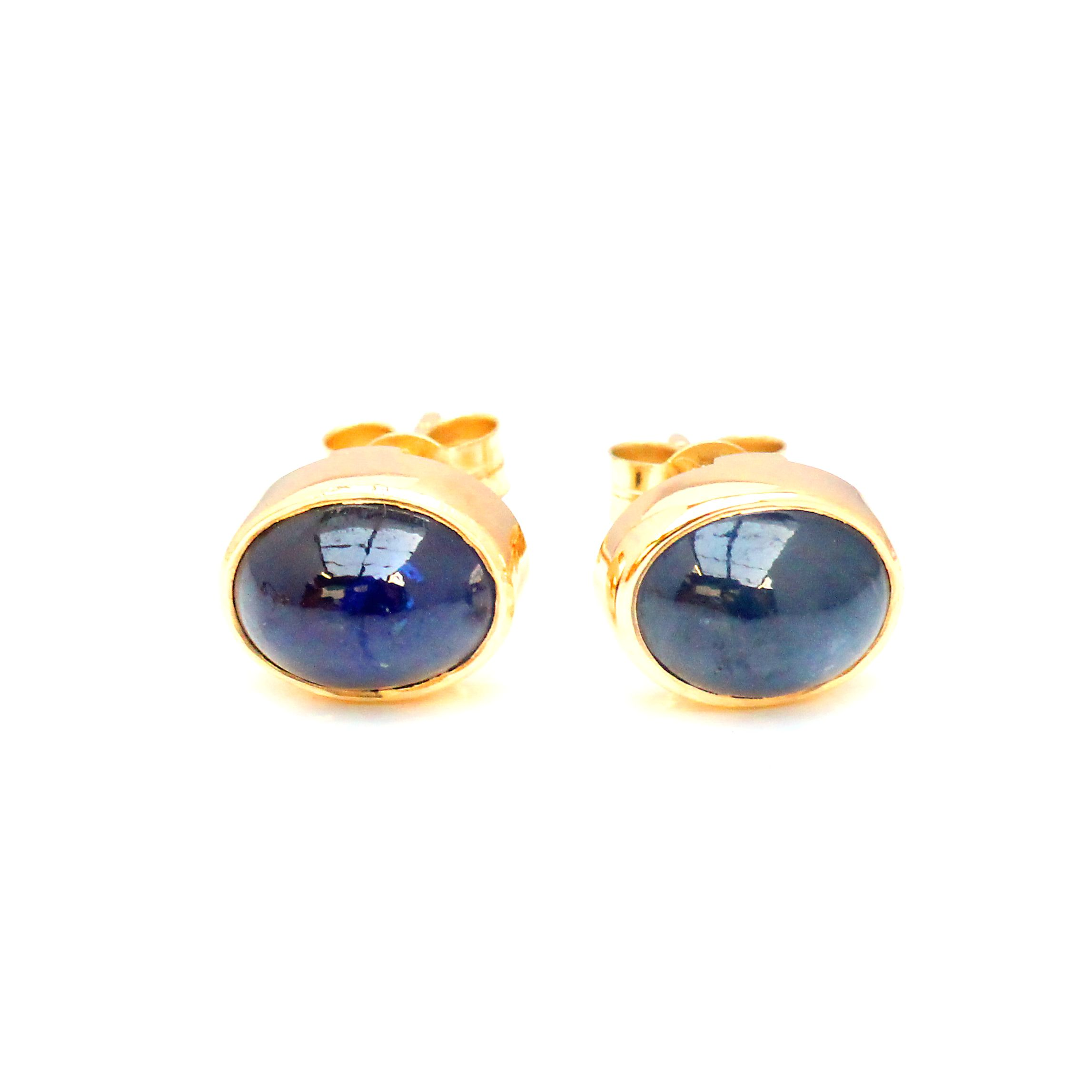 jewelry earrings stud blue gold color cttw collections sapphire jewels vir