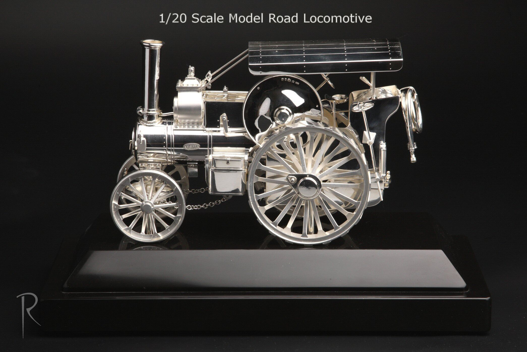 Military Vehicle Sterling Silver Scale Model B5 Road Locomotive